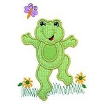 Girly Froggy Applique Design